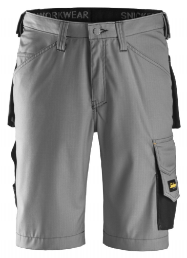 Snickers 3123 Ripstop Craftsmen Shorts (Grey / Black)